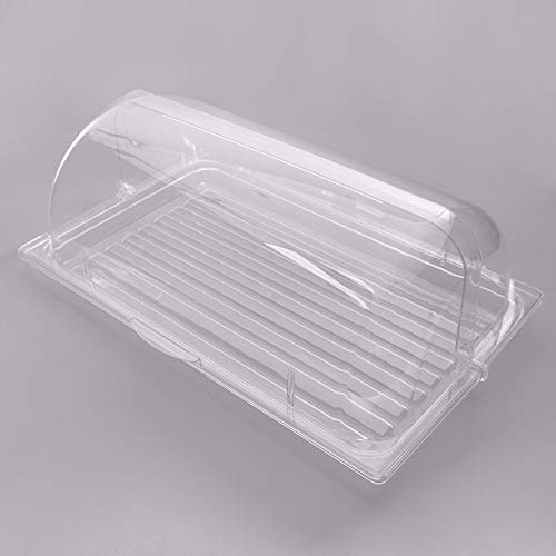Sample and Display Tray Kit with Clear Polycarbonate Tray and Roll Top Cover - 12'' x 20'' By TableTop King by TableTop King (Image #3)
