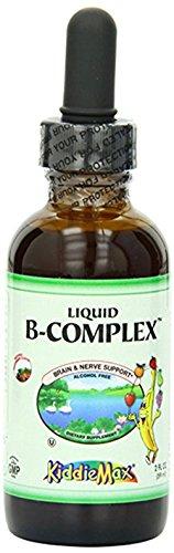 Maxi Health Liquid Vitamin B-Complex - Raspberry Flavor - 2 Fluid Ounce Bottle - Kosher