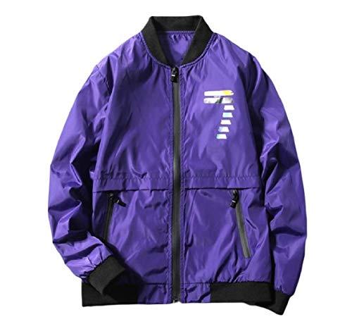 Top Autumn Mens Energy Casual Sportswear Baseball Waterproof Purple Jacket q7xYwF4