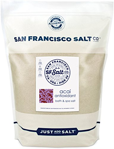 Acai Antioxidant Bath Salts 20 lb. Bulk Bag by San Francisco Salt Company ()