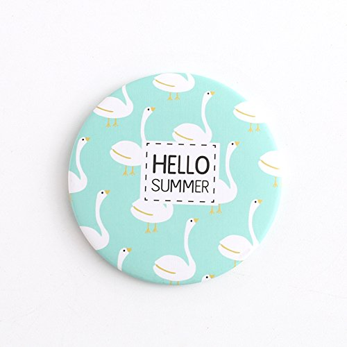 Yingealy Childrens Mirror Mini Round Cartoon Goose Pattern Small Glass Mirrors Circles for Crafts Decoration Cosmetic Accessory by Yingealy (Image #7)