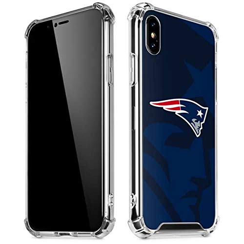 97127dd1 Image Unavailable. Image not available for. Color: Skinit New England  Patriots Double Vision iPhone X/XS Clear Case ...
