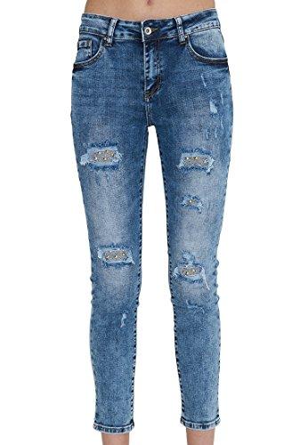 Vestino - Jeans - Femme Bleu bleu bleu denim