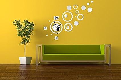Amazon Com Home Decoration Ideas Wall Sticker Clock Mirror