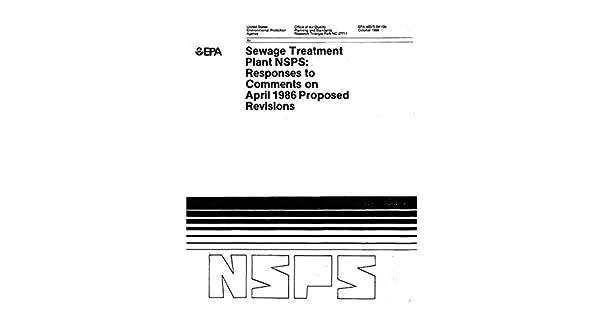 Sewage Treatment Plant NSPS: Responses to Comments on April