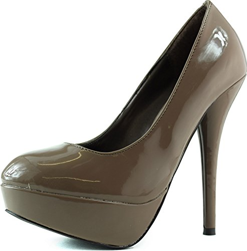 Women's Breckelle'S Angie-33 Taupe Platform Pumps Shoes, Taupe, - Australia Day Sales Boxing