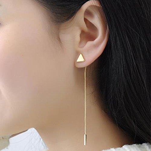 Bar Dangle Threader Drop Earrings Tassel Triangle Ear Studs Women Linear Hoops Geometric Charms Jewelry 2 Mixed Pair
