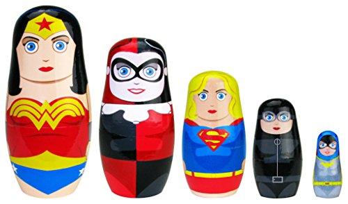 5 Nesting Dolls - Bif Bang Pow! Heroines DC Nesting Dolls Set of 5 Action Figure
