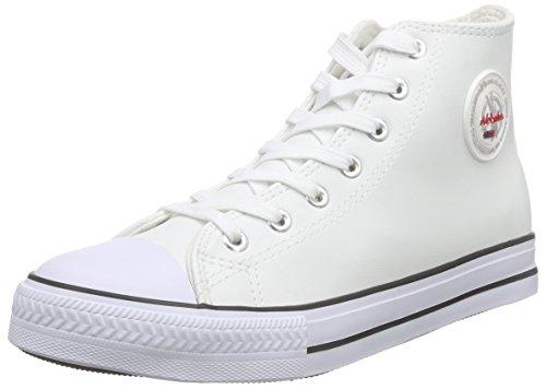 Nebulus Herren Voll-Leder-Evo Hohe Sneakers Weiß (White)