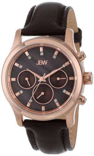 JBW Women's J6270C  Mother-Of-Pearl Leather Diamond Watch