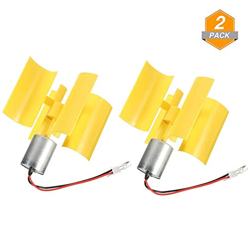 (2Pcs Micro Vertical Wind Turbines,Small Motor Blades Generator for Teaching Physical Power Generation Principle and DIY Science Education Experiment-DC 0.1V-5.5V 100-6000RPM)