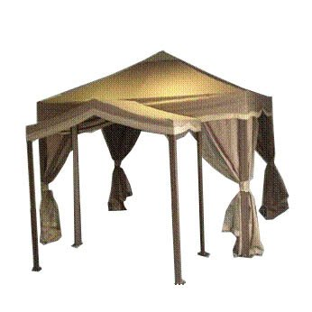 Double Square Garden House Gazebo Replacement Canopy Top Cover