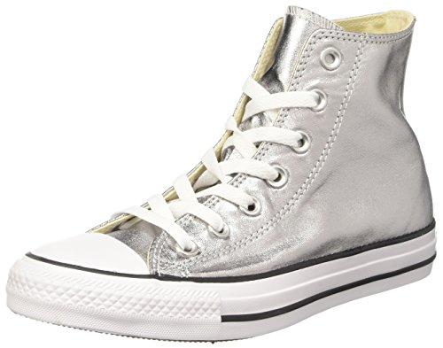 153177c Black Alto Argento Gunmetal Converse White a Collo Sneaker Donna OZOdqwS
