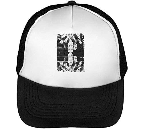 Hombre Blanco Beisbol Snapback Mirror Gorras Negro fwxF1nPq