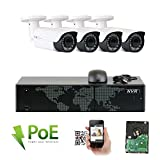 Cheap GW Security 8 Channel 4K NVR HD 1920P IP PoE Security Camera System with 4 Outdoor/Indoor 2.8-12mm Varifocal Zoom 5.0 Megapixel 1920P Cameras, QR Code Easy Setup, Remote Access View