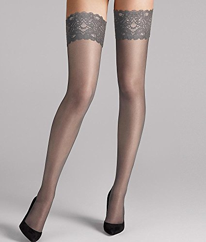 Wolford Satin Touch 20 Stay-Up - Mujer 20 Denier Acero