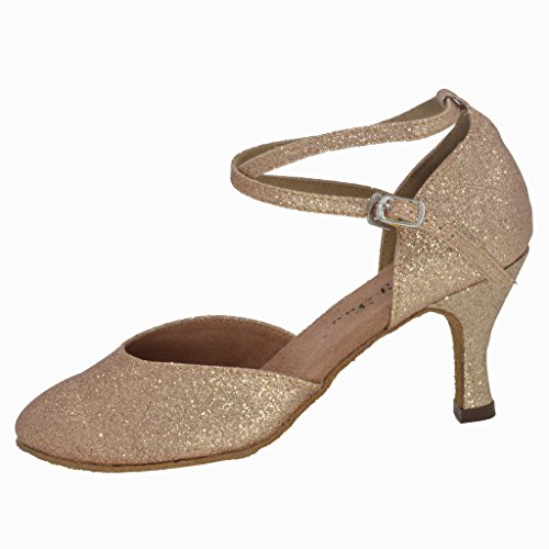 Jig Foo Damen Pumps Dance Schuhe, Damen, Gold