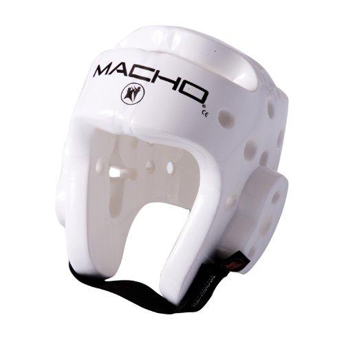 Macho Dyna Karate / Martial Arts Headgear - White - X-Large