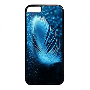 "Beautiful Feather Theme Case for IPhone 6(4.7"") PC Material Black"