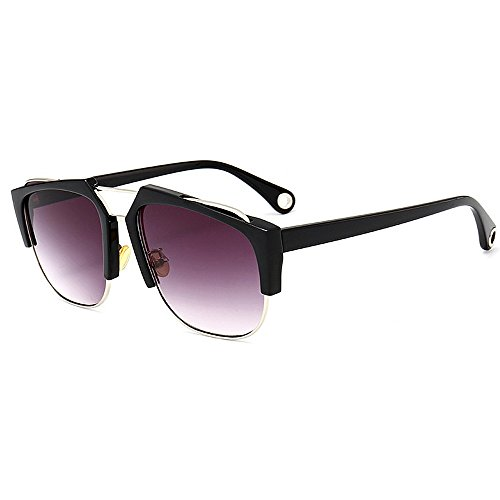 Peggy C6 Protección Gu Verano Semi Sol de Playa Vacaciones Aire Libre de para Unisex de la C1 Conducción Las Color Montura al sin Ultravioleta Gafas rr4wxq5fg