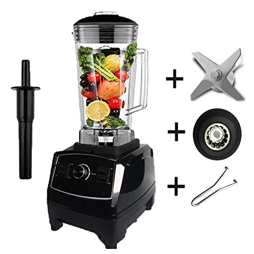 2200W Heavy Duty Commercial Blender Professional Blender Mixer Food Processor Japan Blade Juicer Ice Smoothie Machine,Black full parts,C,EU Plug