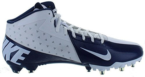 Football New Cleats (New! NIKE Vapor Talon Elite 3/4 Football Cleats Navy Blue & White Football Shoes - Size 12)