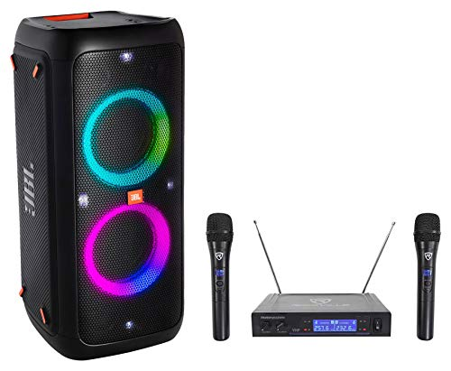JBL Partybox 300 Rechargeable Bluetooth LED Tailgate Party Speaker w/(2) -
