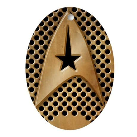 TiuKiu Star-Trek-Brass-Grid_i4s Oval Ornament - 2.3
