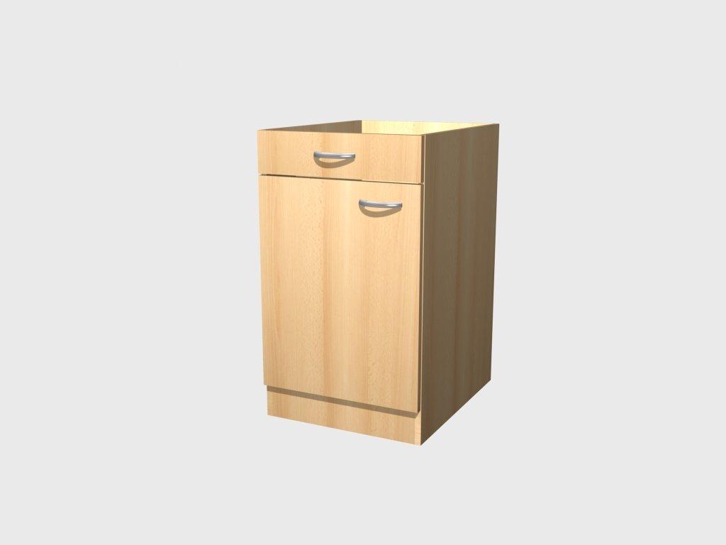 Küchen Unterschrank 50 cm Buche ohne Arbeitsplatte - Namu: Amazon.de ...