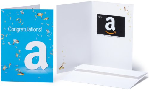 Amazon.com $25 Gift Card in a Greeting Card (Congratulations Design)