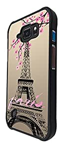 300 - Shabby Chic Floral Paris Eiffel Tower Design For Samsung Galaxy S6 Active G890 Fashion Trend CASE Back COVER Plastic&Thin Metal