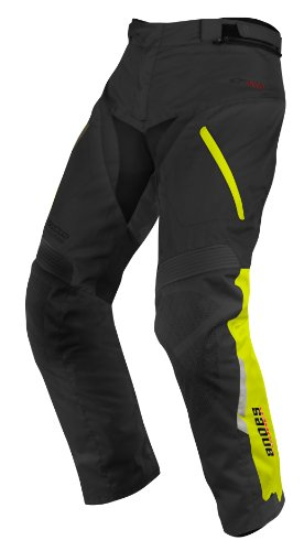 Alpinestars Andes Drystar Pants , Gender: Mens/Unisex, Primary Color: Black, Size: XL, Distinct Name: Black/Flourescent Yellow, Apparel Material: Textile 3227513-155-XL