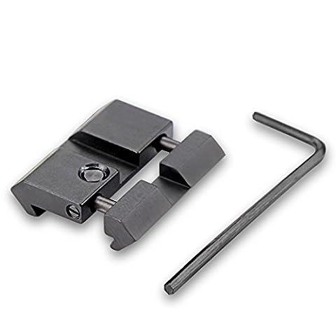 Modkin Tactical 11mm Dovetail to Picatinny Rail Mini Snap-in Conversion Mount for Air Gun Rail Flashlight Rail (3 8 Scope Mount Adapter)