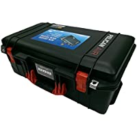 Black Pelican 1525 Air case with Red Handle & latches. With Foam.