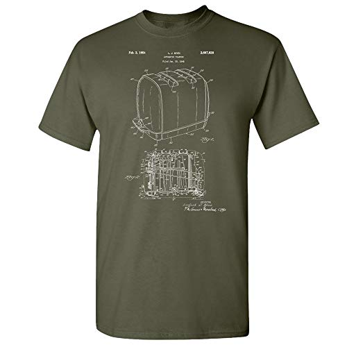 Sunbeam Radiant Control Toaster T-Shirt, Toaster Shirt, Vintage Toaster, Sunbeam Toaster, Automatic Toaster, Old Toaster Military Green (Small)