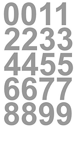 1'' Inch Premium Mailbox Number Vinyl Decal Sticker Sheet (Silver) | Waterproof and Fade-Resistant | Easy to Install Adhesive Vinyl Digits | Home, Apartment, Condo or Business by CustomDecal US by CustomDecal US (Image #3)