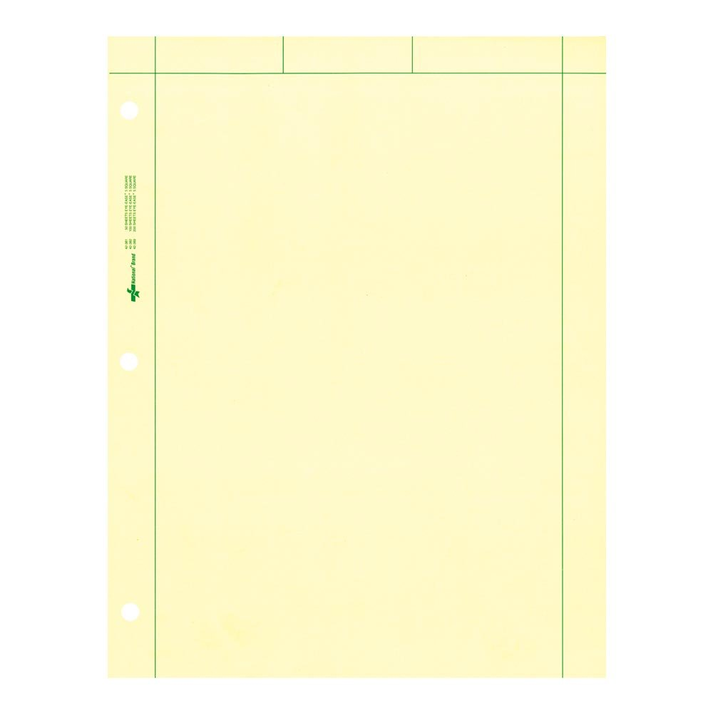 National Brand Computation Pad, Plain and 5 X 5 Quad On Back, Green Paper, 8.5 x 11 Inches, 50 Sheets (42381) by National