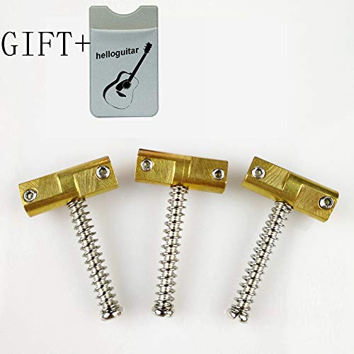 - Wilkinson Compensated Vintage Brass Saddles Set for Fender Telecaster Tele guitar Bridge