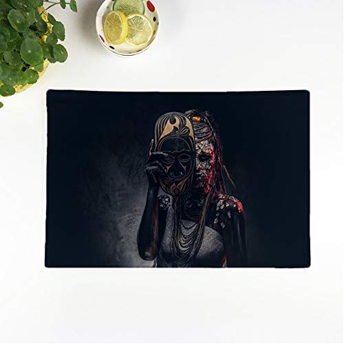 Scary Real Tribal Warrior Costumes - Awowee Set of 4 Placemats Portrait