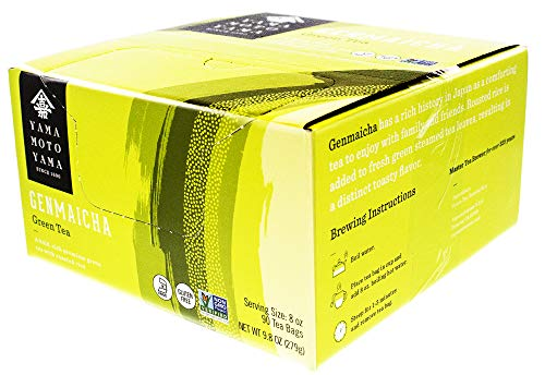 Yamamotoyama Genmai Cha Roasted Brown Rice Green Tea Value Pack, 90 Count Tea Bags, Net Wt. 9.86-Ounce