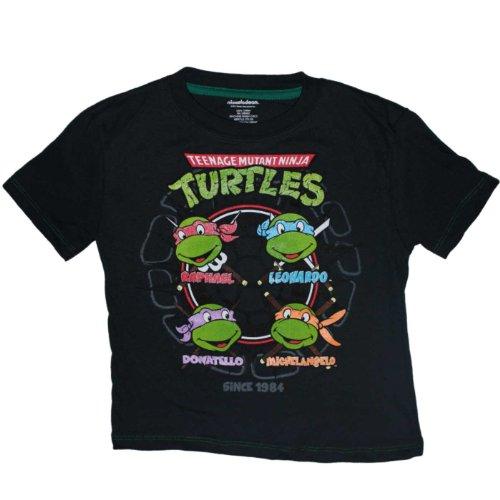 Teenage Mutant Ninja Turtles Four Faces Little Boys Shirt (2T) (Ninja Turtles Face)