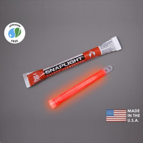(10 Pack) Cyalume Light sticks 9-08007 - 6 in. SnapLight - Red - Hi-Intensity - 30 Minutes - Industrial Grade, Home Improvement Tool