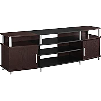 Ameriwood Home Carson Tv Stand For Tvs Up To 70 Wide Cherry