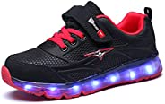 AIkuass USB Rechargeable Roller Shoes LED Light Up Wheel Shoes Sneakers for Boys Girls Kids