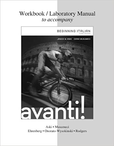 """""DOC"""" Workbook / Laboratory Manual For Avanti : Beginning Italian, 3rd Edition. Inicio viaje Lugar Benefit Russell segun Jordan"