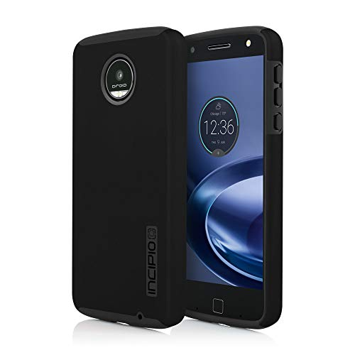 Incipio DualPro Case for Moto Z Force Smartphone - Black / Black