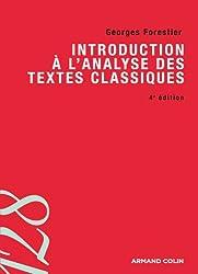 Introduction à l'analyse des textes classiques