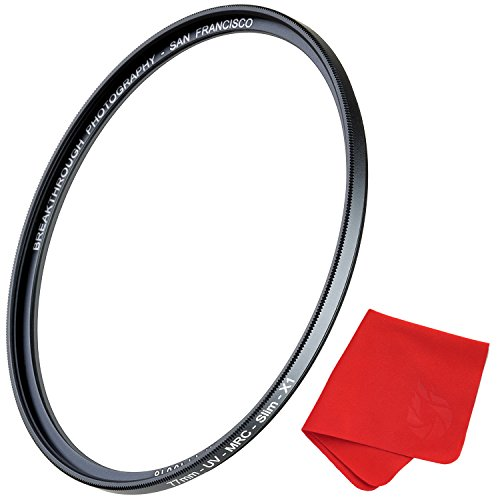 49mm X1 UV Filter For Camera Lenses - Ultraviolet Protection Photography Filter with Lens Cloth - MRC4, Ultra-Slim, 25 Year Support, Weather-Sealed by Breakthrough Photography by Breakthrough Photography