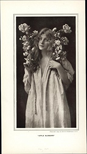 Apple Blossoms Art Nouveau Jugendstil 1905-10 era beautiful woman photo (Nouveau Blossom)