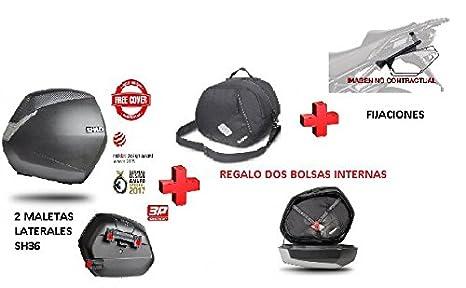 KIT SHAD fijacion 3P + maletas laterales SH36 +bolsas KAWASAKI VERSYS X-300 2017: Amazon.es: Coche y moto